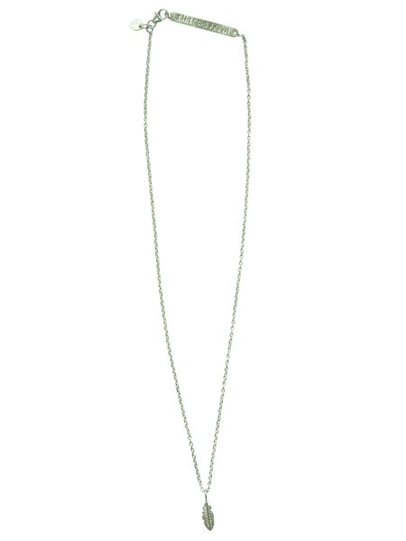 A Beautiful Story|Flow Feather Silver Necklace
