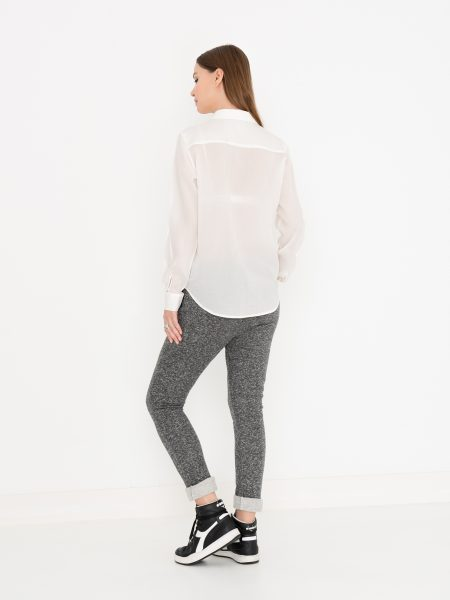 MISS GREEN | Witte Blouse Tencel