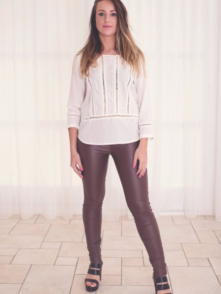 Resiste et Reve | Vegan Leather Pants Bruin