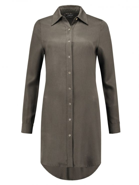 IGNORE THE BRAND | SHIRTDRESS PAIGE ARMY GREEN