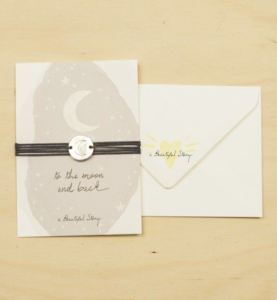 A Beautiful Story   Jewelry Postcard Moon from Wolf and Storm