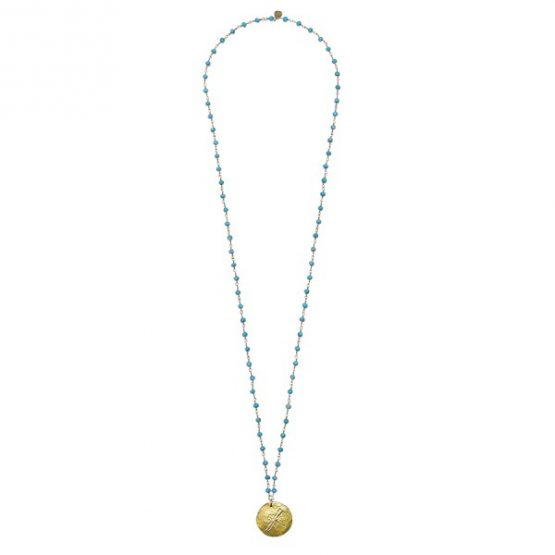 A Beautiful Story | Rosary Turquoise Korte Ketting 5
