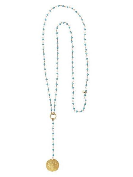 A Beautiful Story | Rosary Turquoise Lange Ketting