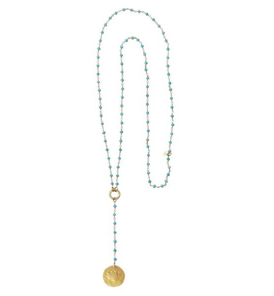 A Beautiful Story | Rosary Turquoise Lange Ketting 3