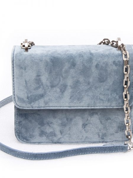 Denise Roobol | Mini Cruise Bag Babyblue Velvet