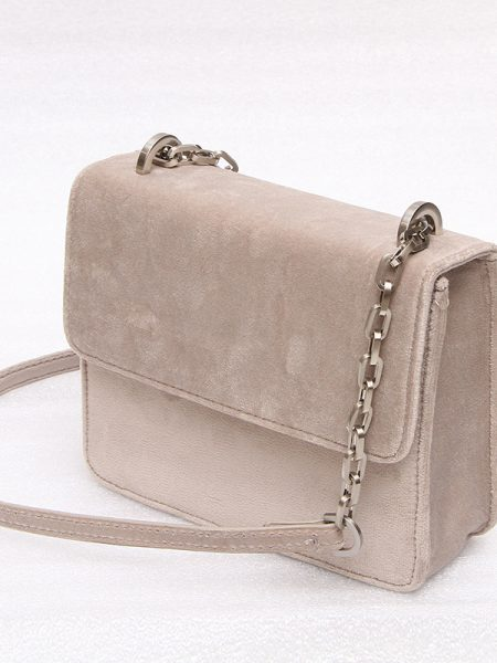 Denise Roobol | Mini Cruise Bag Taupe Velvet