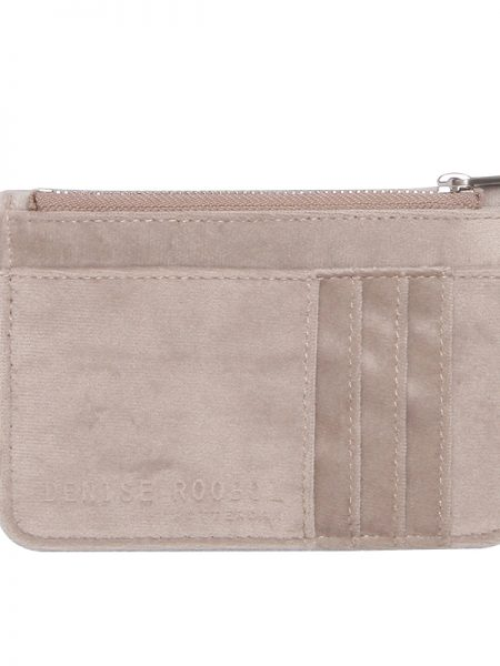 Denise Roobol | Mini Wallet Taupe Velvet