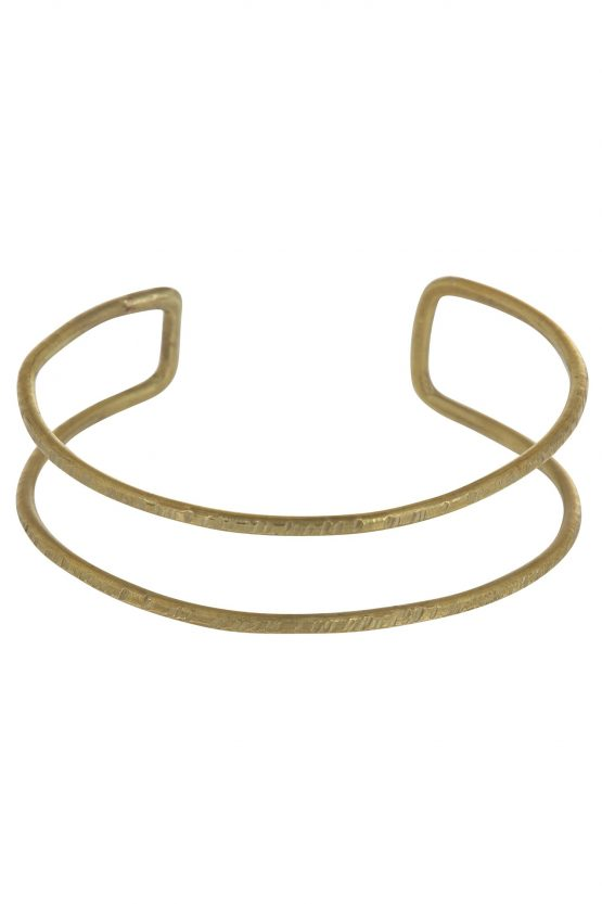 People Tree Double Bangle - Brass
