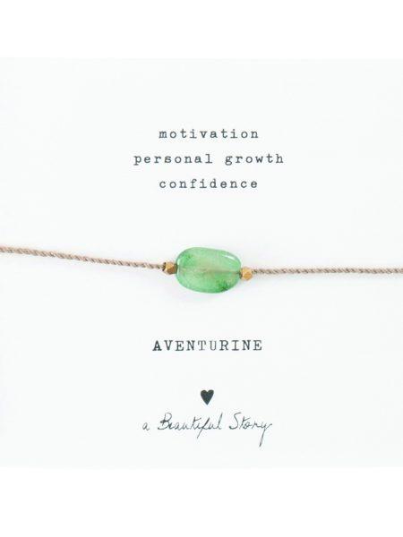 A Beautiful Story | Gemstone Card Aventurine