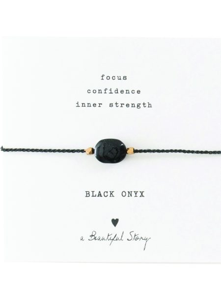 A Beautiful Story | Gemstone Card Black Onyx