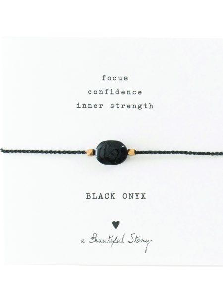 A Beautiful Story | Gemstone Card Black Onyx