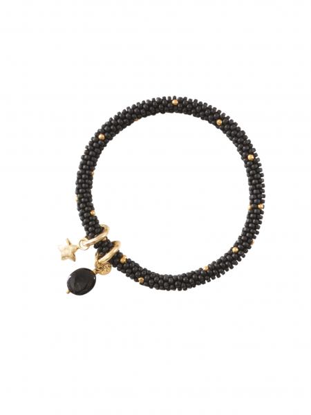 A Beautiful Story | Jacky Multicolor Onyx Star Gold Bracelet