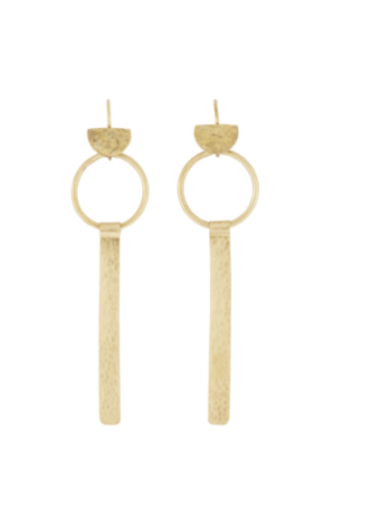 PEOPLE TREE | Ring and Bar Earrings