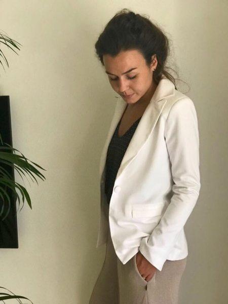 Duurzame Witte Blazer