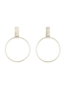 People Tree | Rectangle and Hoop Earrings Zilver