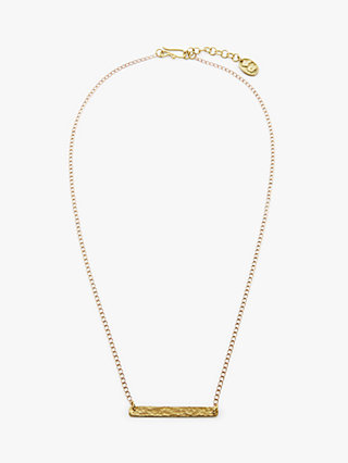 People Tree |  Bar Necklace Brass