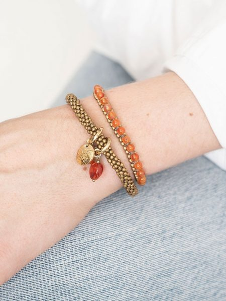 A Beautiful Story | Jacky Carnelian Butterfly Gold Bracelet