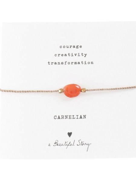 A BEAUTIFUL STORY | GEMSTONE CARD CARNELIAN