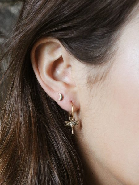 A Beautiful Story | Moon Sterling Silver Gold-Plated Earring