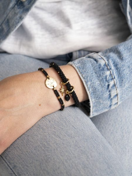 A Beautiful Story | Jacky Multi Color Black Onyx Gold Bracelet