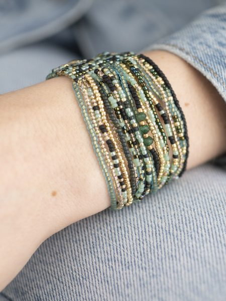 A Beautiful Story | Brilliant Aventurine Gold Bracelet
