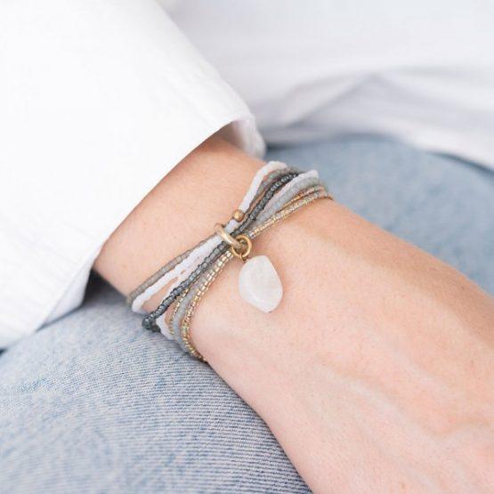 A Beautiful Story - Nirmala Moonstone Gold Bracelet 1