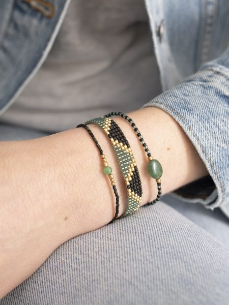 A Beautiful Story | Flare Aventurine Gold Bracelet