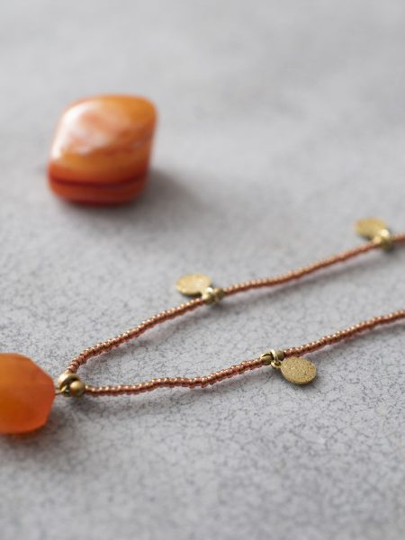 A Beautiful Story | Charming Carnelian Gold Necklace