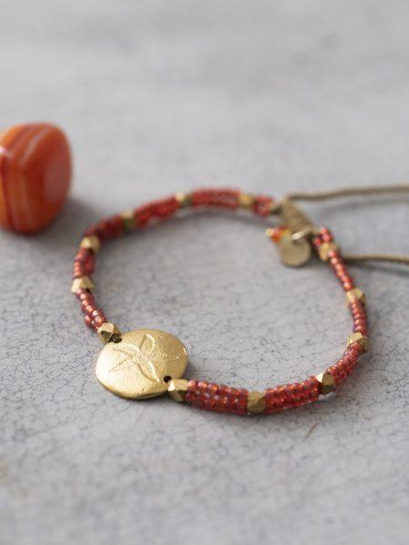 A Beautiful Story | Gratitude Carnelian Gold Bracelet