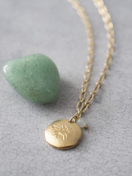 A Beautiful Story | Rose Aventurine Gold Necklace