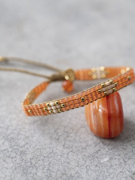 A Beautiful Story | Summerlight Carnelian Gold Bracelet