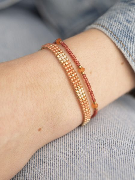 A Beautiful Story | Flare Carnelian Gold Bracelet