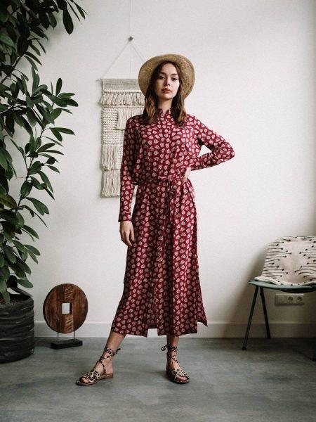 J-LAB3L | Maxi Dress Nalini Big Flower Red