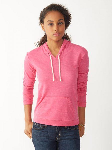 Alternative Apparel   Hoodie Pink Thin
