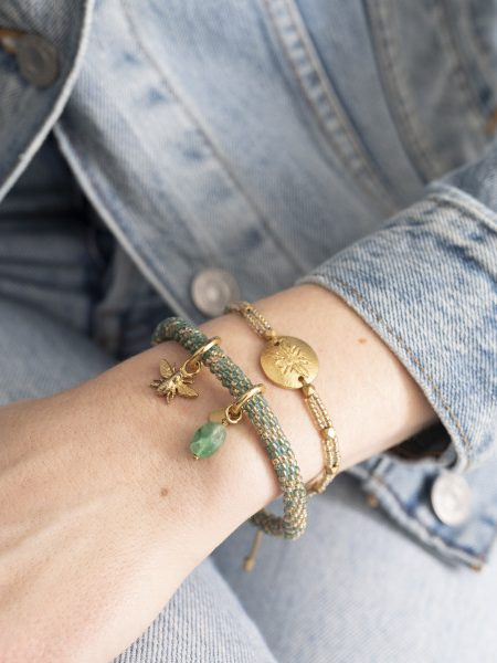 A Beautiful Story Armband  Jacky Gold Multicolour Aventurine