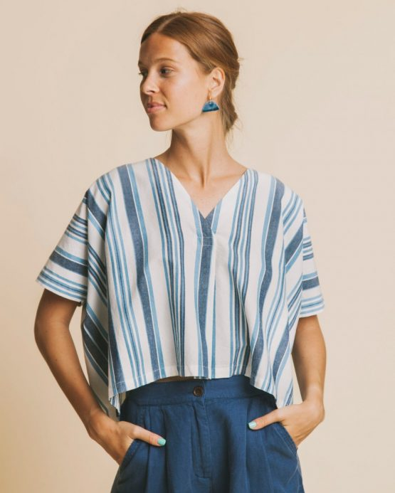 THINKING MU Stripes Kafue Blouse