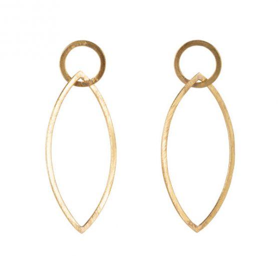 HINTH | Circle Drop Big Gouden Oorbellen