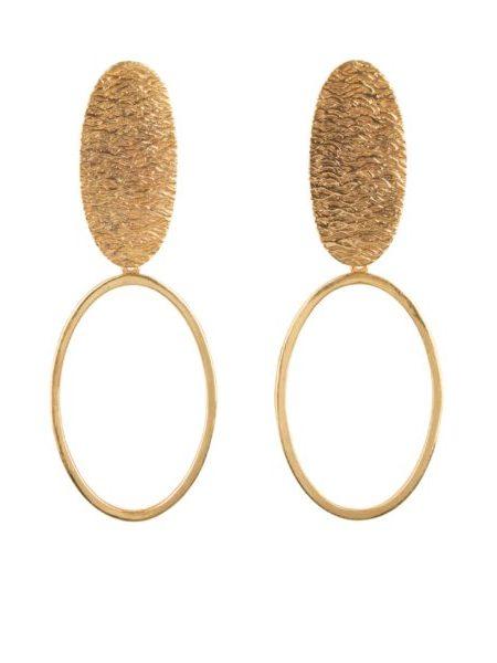 HINTH | Oval Yin Yang Gouden Oorbellen