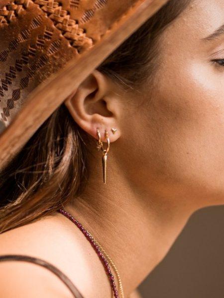 TAJ | Single Cone Earring Nuru Gold