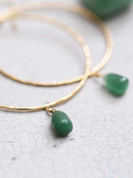 A Beautiful Story | Embrace Carnelian Gold Earrings