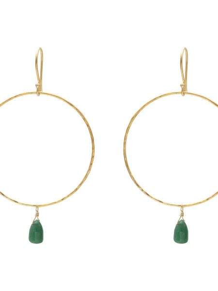 A Beautiful Story | Embrace Aventurine Gold Earrings