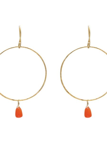 A Beautiful Story | Embrace Carnelian Gold Earrings