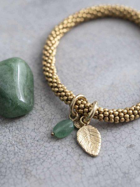 A Beautiful Story | Jacky Aventurine Leaf Gold