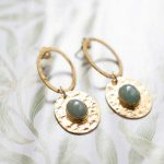 A Beautiful Story | Thankful Aventurine Gold Earrings