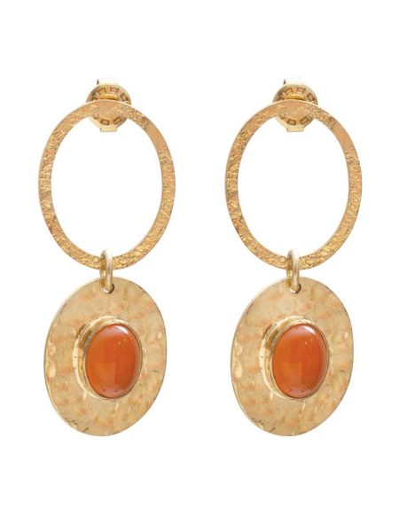A Beautiful Story | Thankful Carnelian Gold Earrings