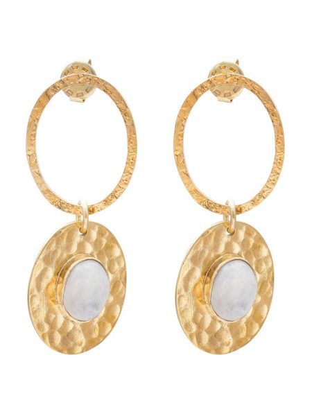 A Beautiful Story | Thankful Moonstone Gold Earrings