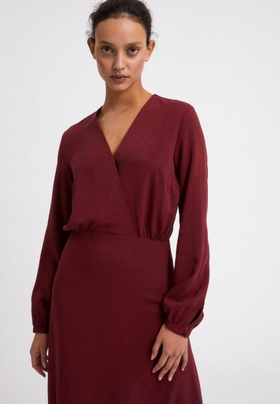 Armedangels   Aleixaa Ruby Red Dress