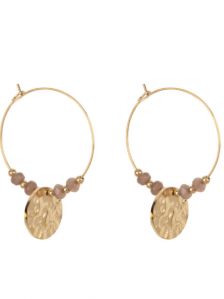 HINTH | COIN BEADS EARRINGS